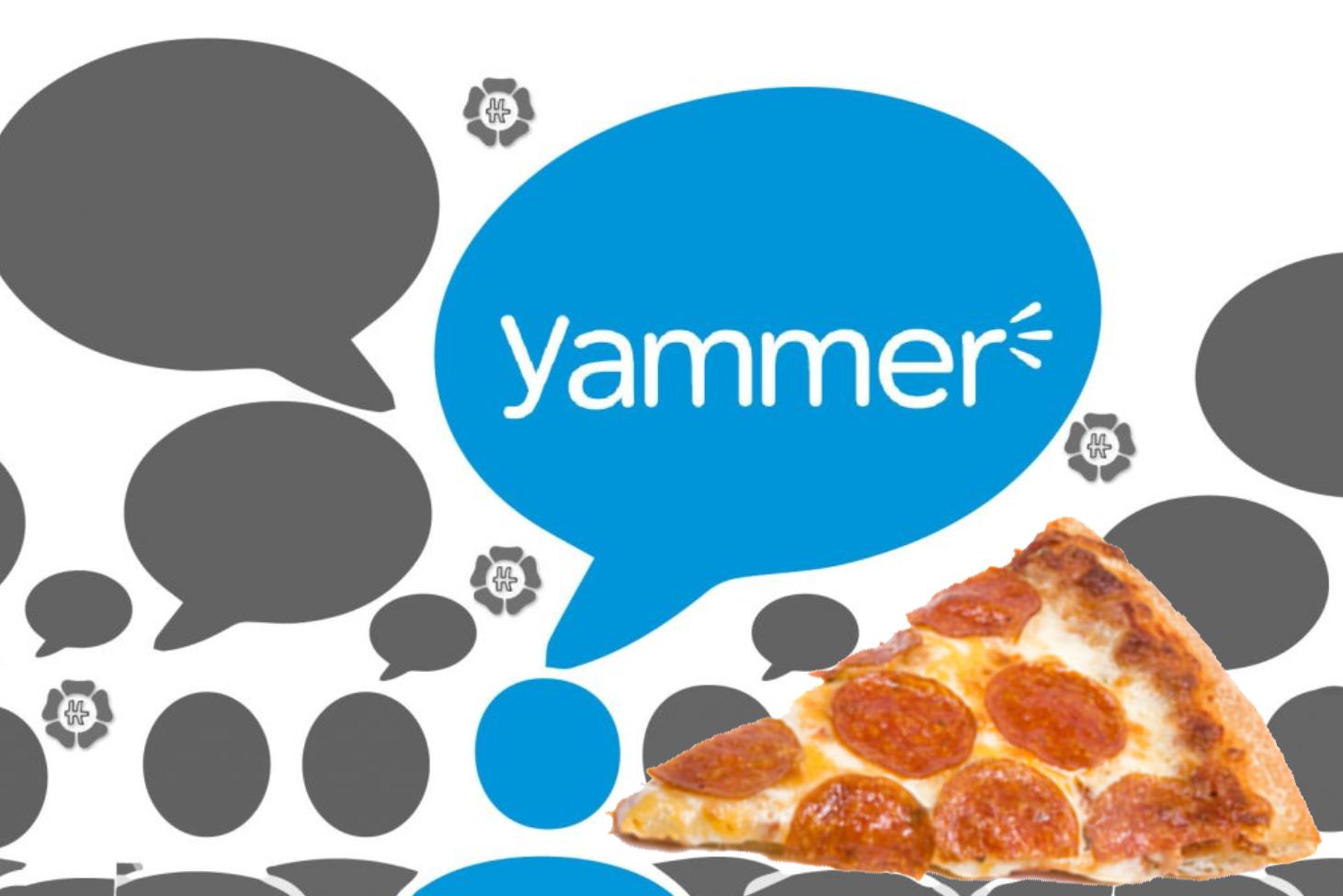 #participizza met #Yammer